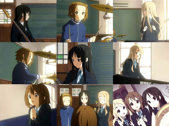 K-ON anime episode one screen cut