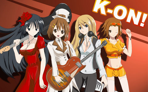 Japanese anime K-on cosplay wallpaper