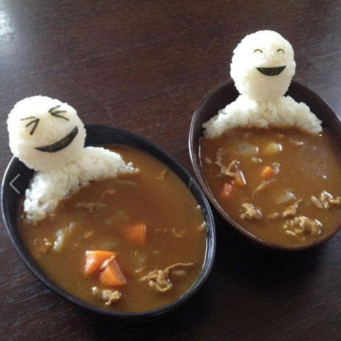 Japanese curry bath