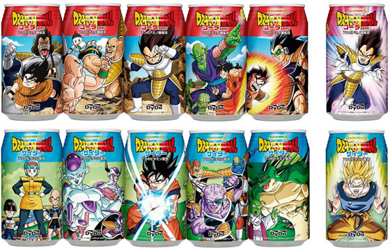 Japanese Dragon Ball carbonated drinks