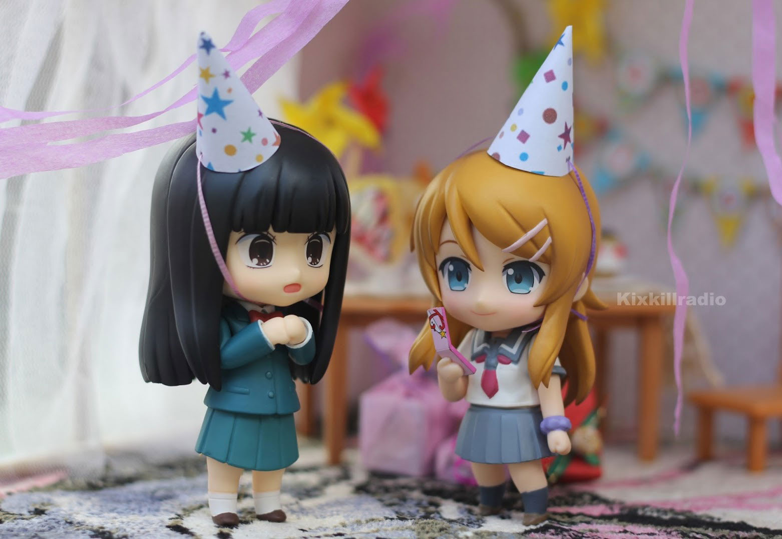 Nendoroid Kirino and Sawako birthday party