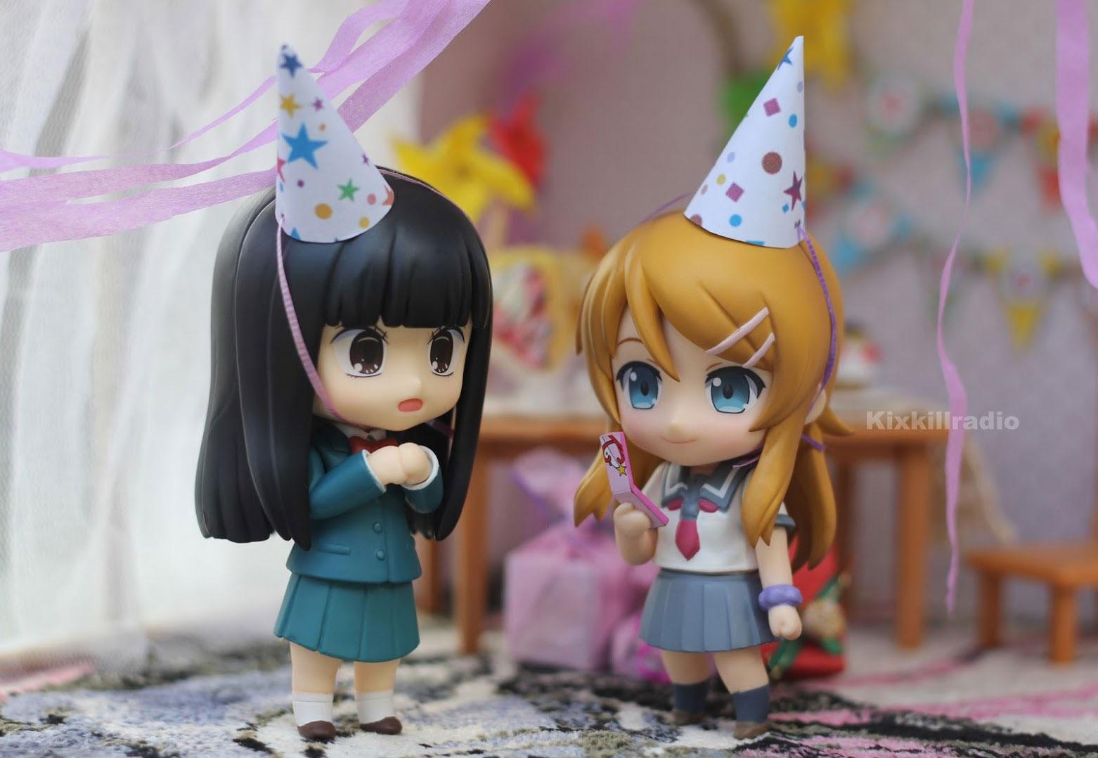 Nendoroid Kirino and Sawako birthday party